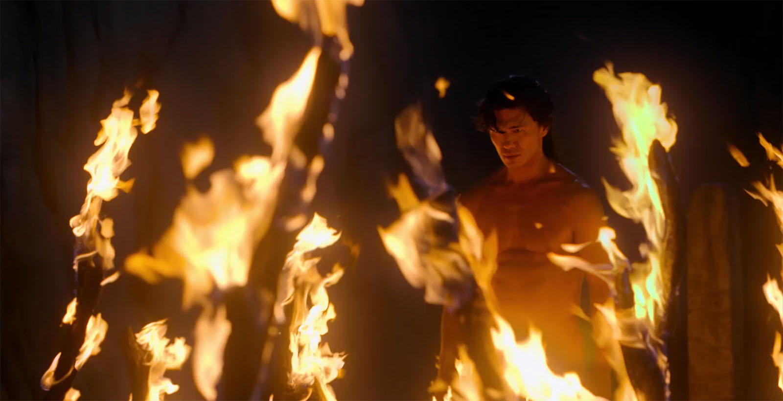 Firewalk scene from Marco Polo