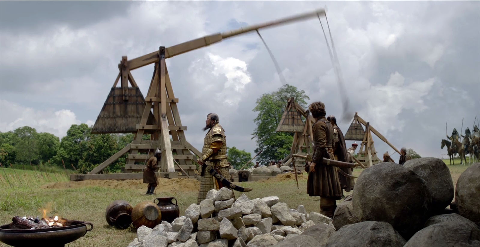 Trebuchet Firing from Marco Polo