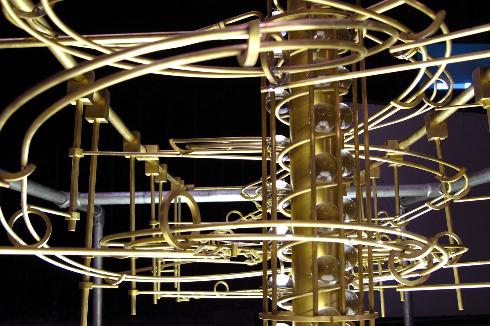 'Rube Goldburg' machine detail - for Maybank, Malaysia
