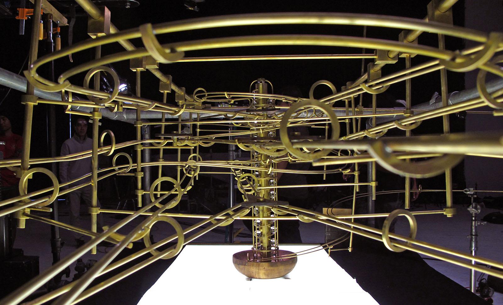 Maybank 'Rube Goldburg' machine designed by Adam Howarth